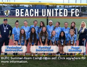 Camp post for soccer club