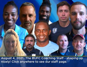 Image of coaching staff for soccer club
